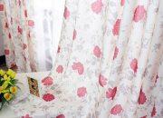 Rèm cửa phòng ngủ tại Hưng Yên vải họa tiết tô điểm