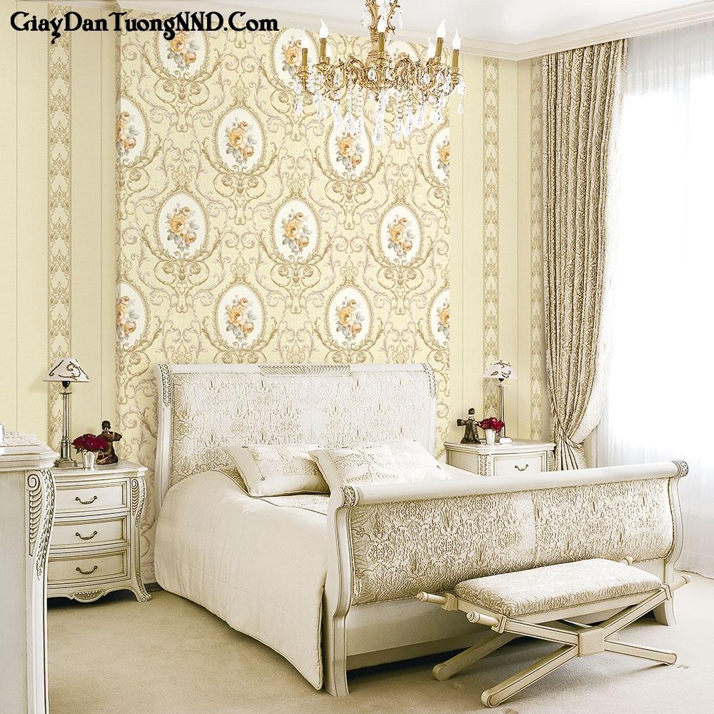 Giấy dán tường phòng ngủ lãng mạn