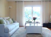 Mẫu rèm vải phòng khách hiện đại