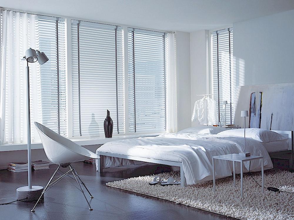 Mẫu rèm cửa phòng ngủ sáo nhôm đơn giản