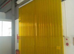 Rèm cửa phòng lạnh màu vàng có thể chống côn trùng