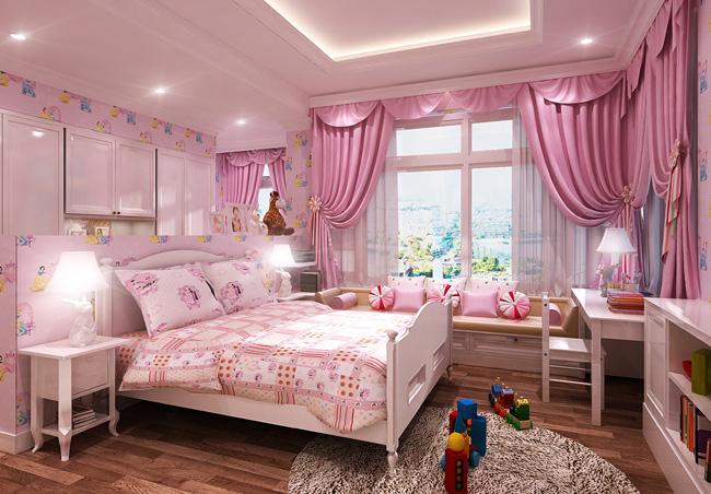 Rèm màu tím hồng trẻ trung